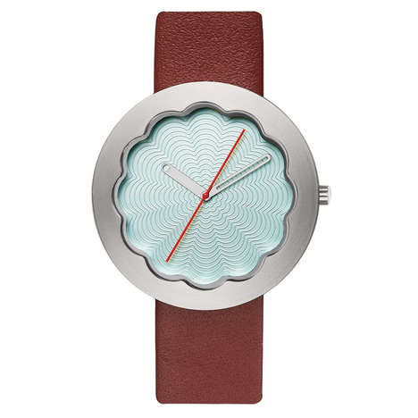 Scalloped Luxe Timepieces - The Scallop Watch by Michael Graves Boasts Engraved Curved Patterns