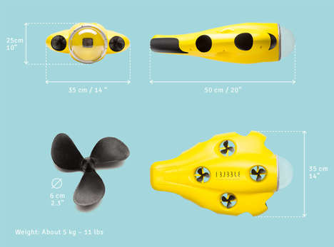 Autonomous Underwater Drones - The iBubble Drone Can Follow Scuba Divers and Film Video