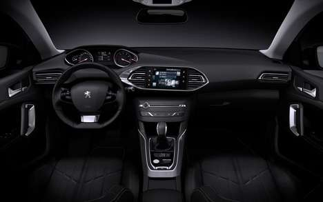 Futuristic Auto Cockpits - Peugeot's i-Cockpit Transforms Vehicular Control and Interior Appearance