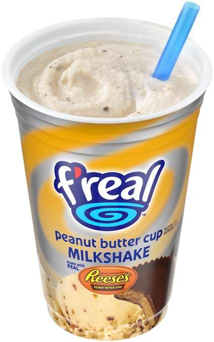 Nutty Co-Branded Milkshakes - f'real's Peanut Butter Cup Milkshake is Made with Reese's Chocolate