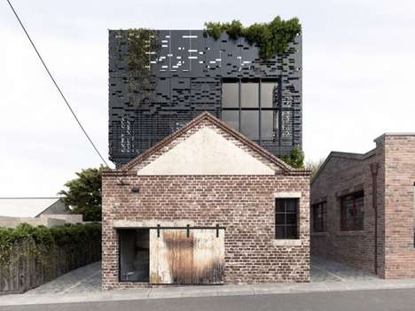 Pixelated Home Extensions - DKO Architects Builds Floating Boxes on Top of Old Architecture