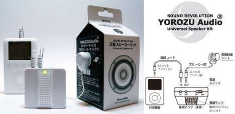 Adhesive iPod Speakers