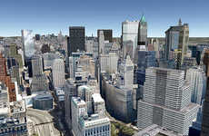 3D Online Cityscapes - Google Earth Unveils Buildings Layer