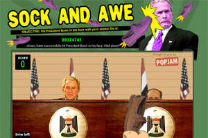 'Sock and Awe' Game Throws Footwear at Bush