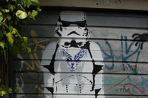 Street Art From a Gallery Far, Far Away