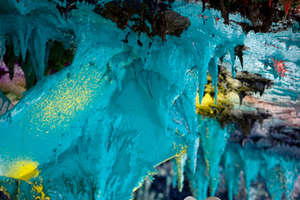 The UN's 'Room XX' Features Multicolored Stalactites