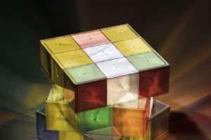 The Rubik's Cube Lamp