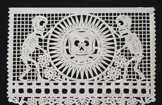 Macabre Perforated Paper Art - Papel Picado Celebrates the Day of the Dead
