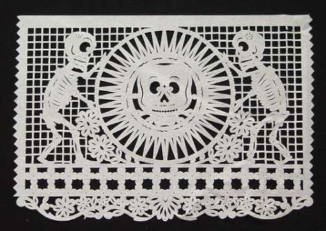 Macabre Perforated Paper Art