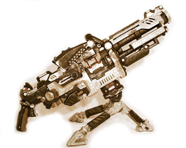 DIY Foam-Shooting Machine Guns