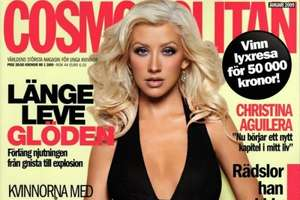 Christina Aguilera Goes White Blonde for Cosmopolitan Magazine