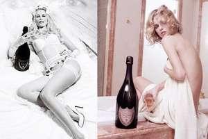 Rare Look at Lagerfeld's Dom Perignon Photo Shoot