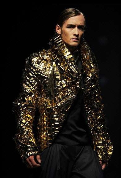 Futuristic Metallic Menswear