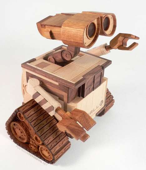 Famous Animations in Wood