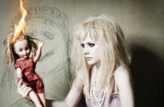 Pop Stars as Dolls - Avril Lavigne is Creepy in Prestige Magazine
