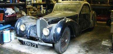 Miraculous Antique SuperCars - 'Lost' 1937 Bugatti Type 57S Atalante Will Fetch Millions