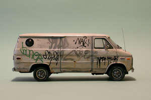 Kevin Cyr Paints Neglected and Graffiti-Covered Commercial Cars