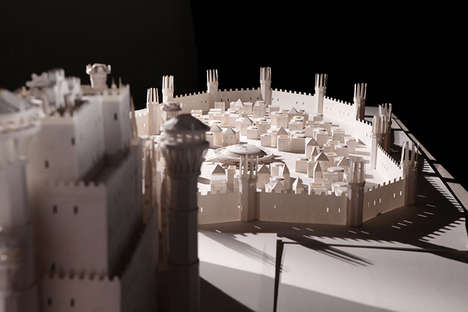 Opening Sequence Paper Recreations - Dadomani Recreates the Beginning of Game of Thrones Using Paper