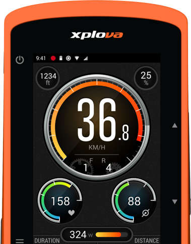 Camera-Embedded Bicycle Computers - The 'Xplova X5' Keeps Track of Rides, Health and More