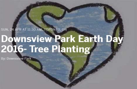 Charitable Tree Planting Events - This Annual Tree Planting Event Celebrates Earth Day in Toronto