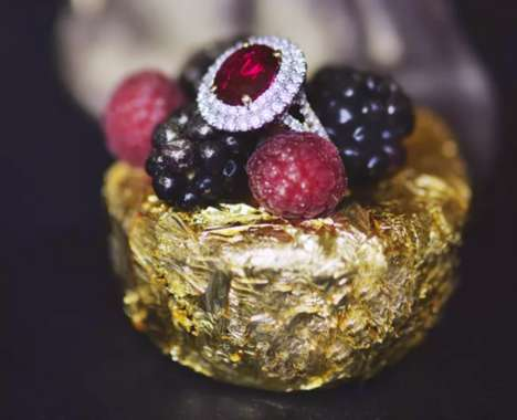 Gold-Encrusted Birthday Cakes