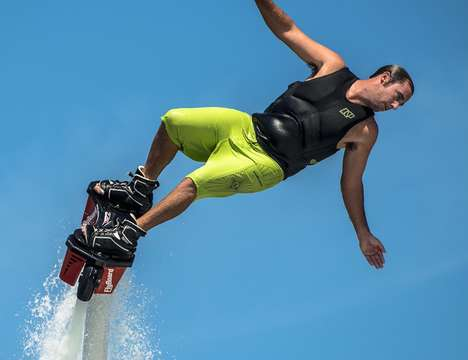 Supercharged Aquatic Jet Packs - The Zapata Flyboard V3 Complete Kit Launches Users Up to 43-Feet