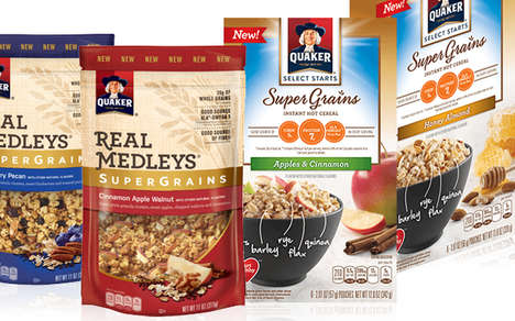 Nutrient-Dense Breakfast Products - The New Quaker SuperGrains Range Provides a Nutritional Boost