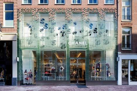 Glass House Couture Flagships - The New Chanel Amsterdam Store Boasts a Stunning Glass Facade