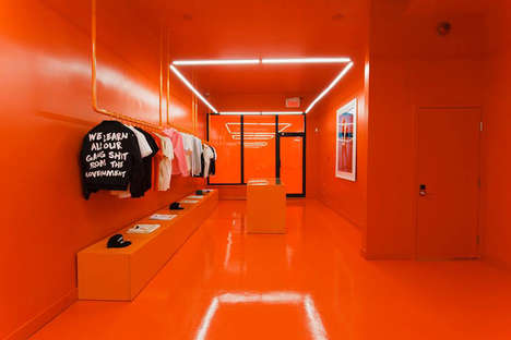 All-Orange Streetwear Boutiques - Atelier New Regime Has Opened Its First Store in Montreal