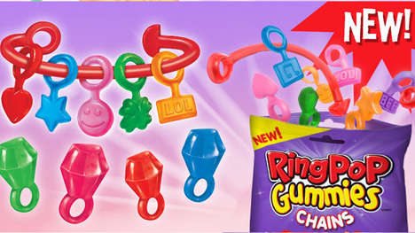 Pop Culture-Inspired Candies - The New Ring Pop Gummies Chains are Edible Jewelry