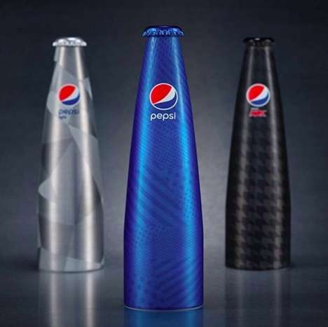 Illustrious Soda Bottle Designs - The Pepsi Prestige Aluminum Pop Bottles Opt for an Elongated Shape