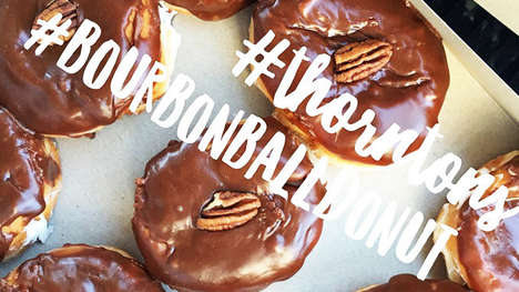 Boozy Bourbon Donuts - The Bourbon Ball Donut Celebrates the Start of Derby Season