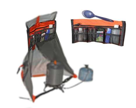 Kitchen-Carrying Backpacks - The Cirque Can Be Used to Cook and Protect Your Flame While Camping