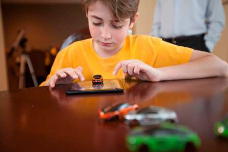 Tablet-Top Racing Games - The Pocket Racing Game Lets You Place a Toy Car On Your Tablet Screen