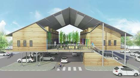 Stilted Solar Homes - The Sustainable ZED Pods Can Be Installed in Parking Lots