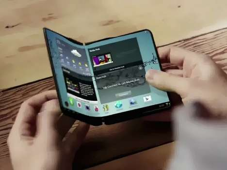 "Folding Smartphone Tablets - Samsung Sets a Date to Release a Hybrid ""Smartlet"" Device for Next Year"