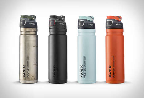 Press-to-Sip Water Bottles - The Avex Freeflow Drink Dispensers are Designed for the Great Outdoors