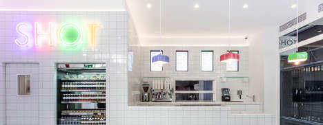 Lab-Like Coffee Shops - Shot Cafe by Wilson Holloway Has a Scientific Look to Denote Healthiness