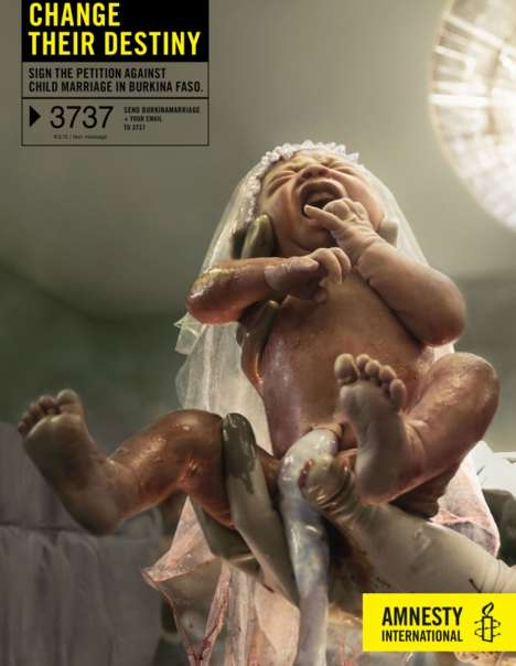 Baby Bride Campaigns - The Amnesty International Change Their Destiny Ad Addresses Burkina Faso