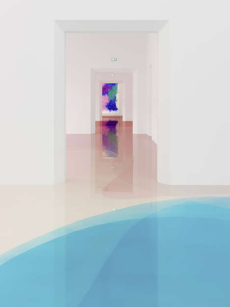 Candy-Colored Resin Flooring - Peter Zimmermann Creates a Gorgeous Layered Effect on the Ground