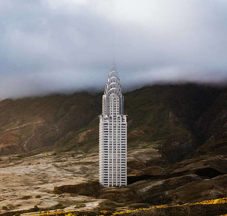 Misplaced Monument Photography - Anton Repponen Takes New York Structures Out of Natural Habitat