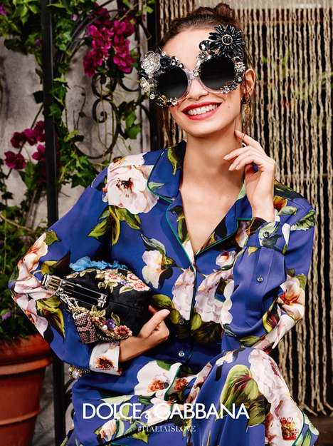 Embellished Eyewear Campaigns - The Dolce & Gabbana Eyewear Collection is Bold and Feminine