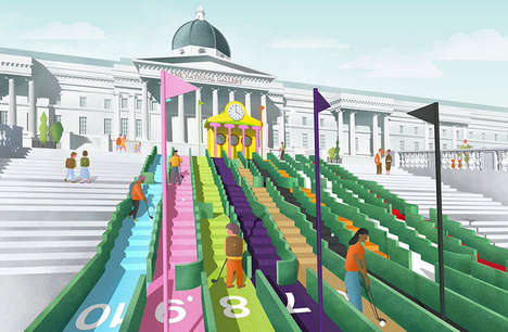 Designer Golf Courses - Visionary Crazy Golf Hopes to Take Over Trafalgar Square in London