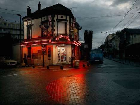 Cinematic Cafe Photography - Blaise Arnold Captures Lonely Cars and Bistros Before They Disappear
