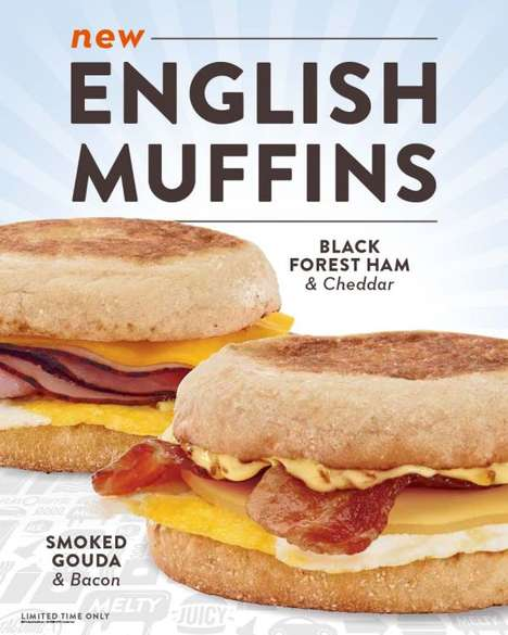 Premium Ingredient Breakfast Sandwiches - These Breakfast Sandwiches are Served on English Muffins