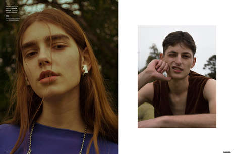 Gender-Fluid Menswear Editorials - The Ones 2 Watch 'Crying Tango' Series Boasts Androgynous Apparel