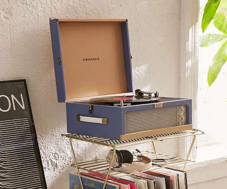 Updated Retro Turntables - The Crosley Retro Dansette Junior Turntable Pays Tribute to the 60s