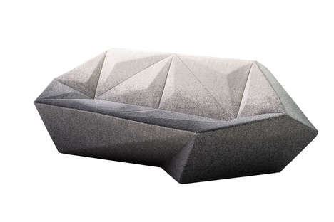 Gemstone-Inspired Sofa Collections - The Gemma Collection Features a Geometric Sofa System