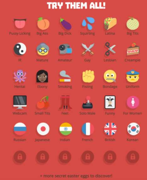 X-Rated Emoji Applications - Adult Company Allows People to Choose Content Through Emoticons