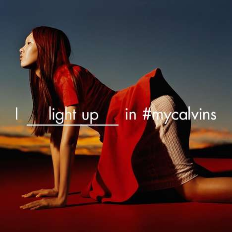 Fiery Fill-in-the-Blank Fashion Ads - The Calvin Klein Platinum Campaign is Shot During a Sunset